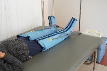 物理療法施術中の様子